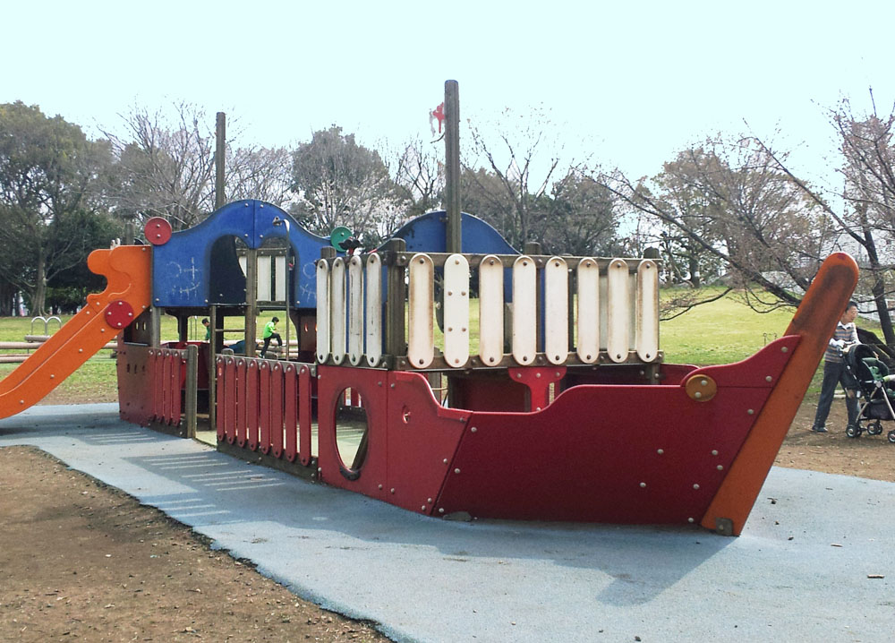 Pirate ship for kids in Kinuta Park - March 29, 2014