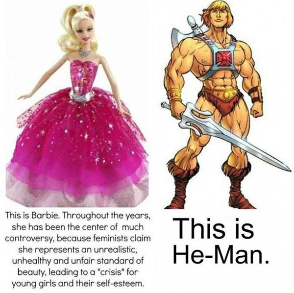 Barbie versus He-Man