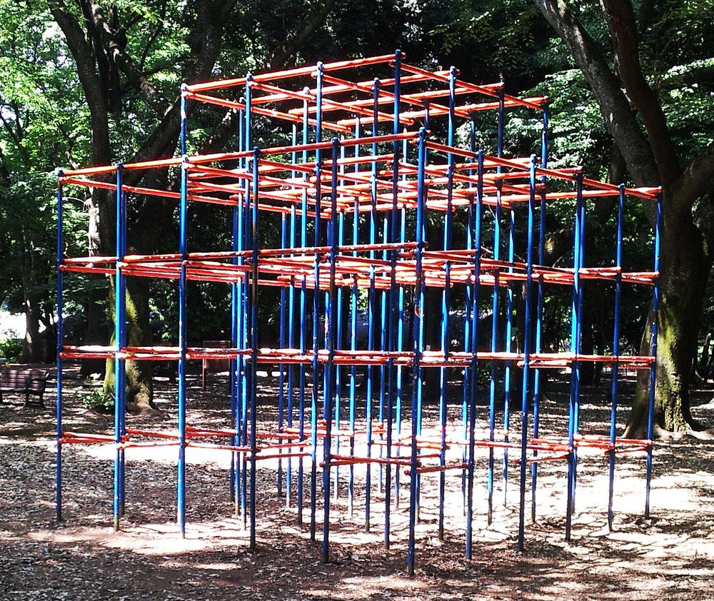 Monkey bars in Kinuta Park - June 1, 2014