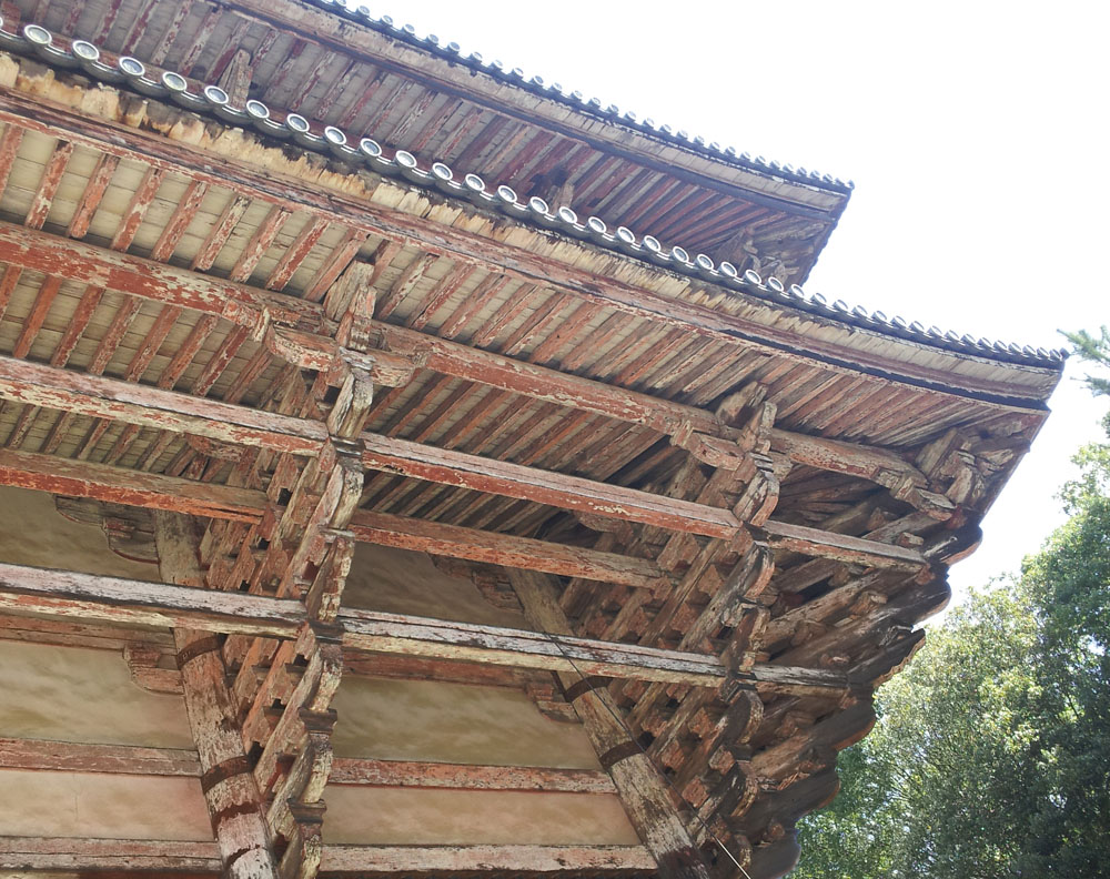 Rafters of the Todaiji Temple in Nara - April 3, 2014